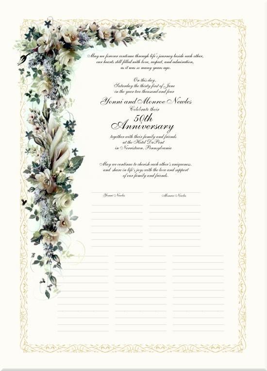 Th wedding anniversary poems calla lilies gardenias