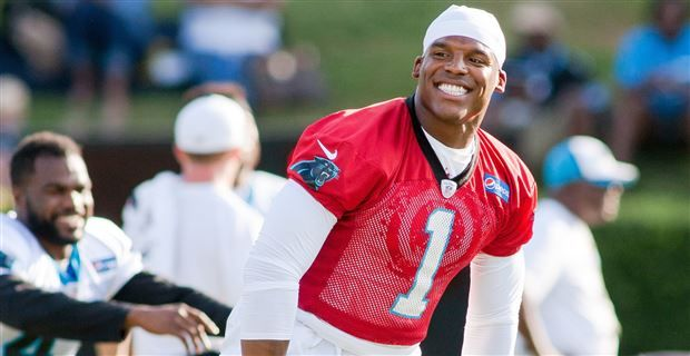 VIDEO: Cam Newton gives Superman shirt to a Wounded Warrior