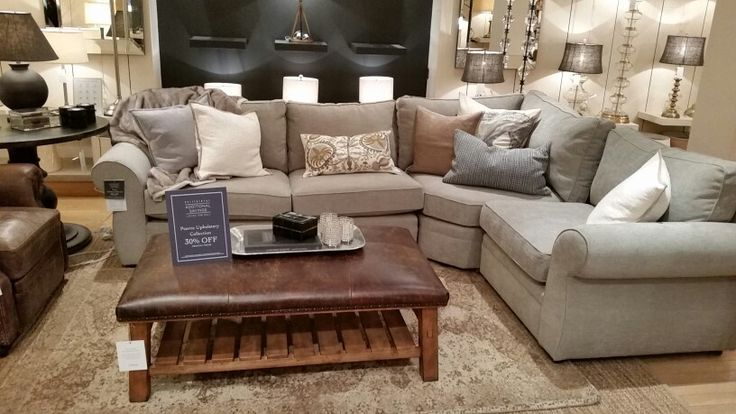 Pearce Sectional Silver Taupe Tanager Living Room