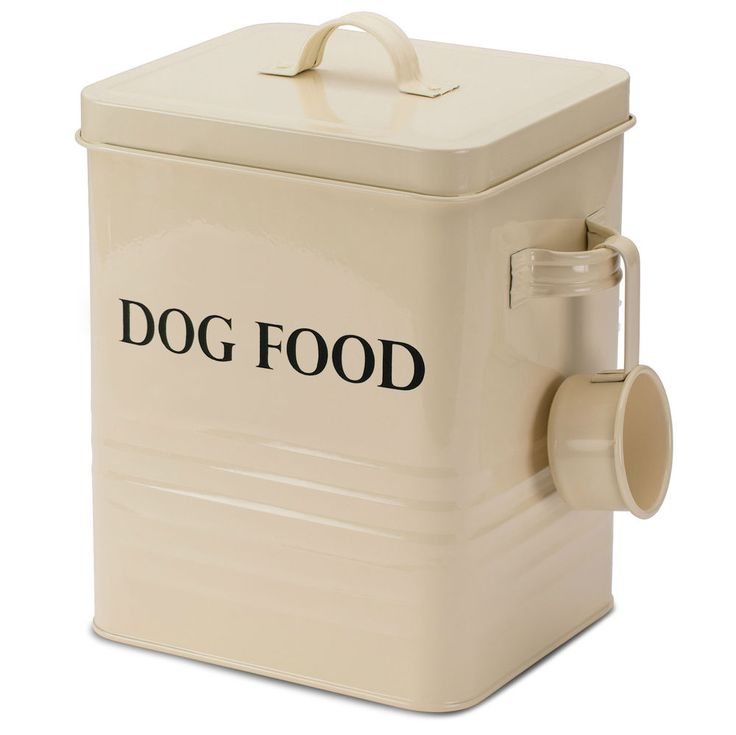 Andrew James Vintage Dog Food & Treat Storage Tin Box Container Retro Cream in Pet Supplies, Dog Supplies, Dog Food | eBay