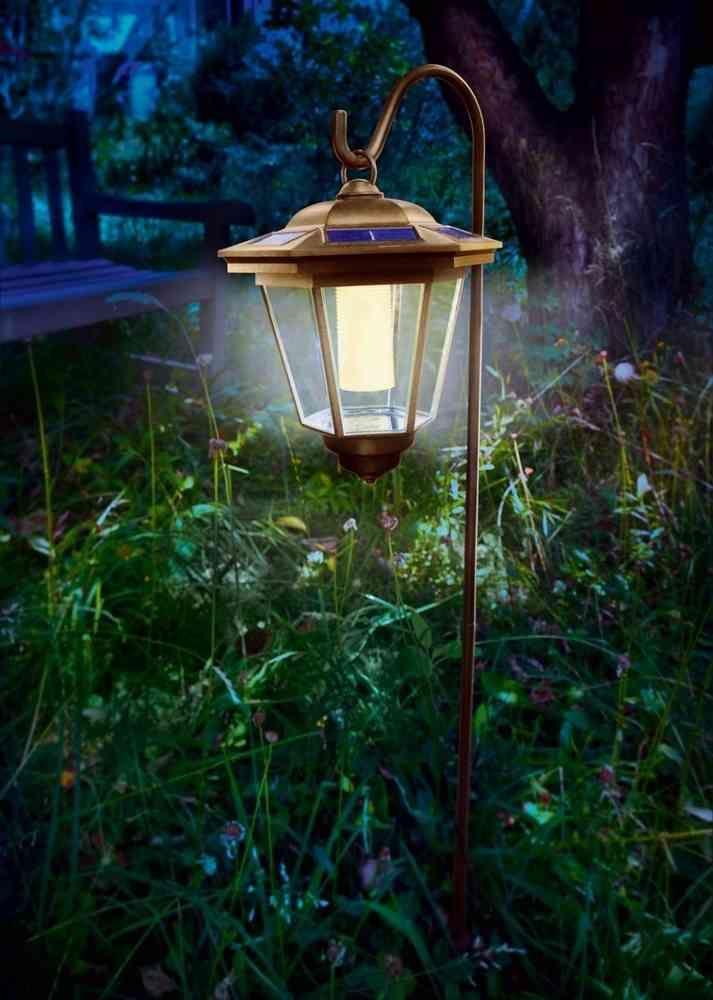 Farola solar clásica Tivoli luz blanca cálida para jardín