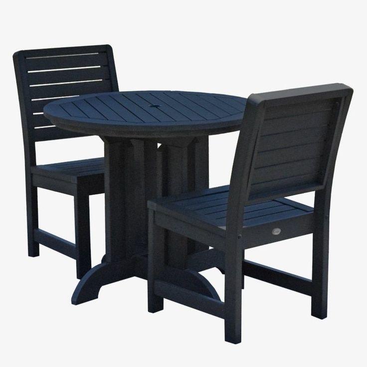 highwood Weatherly 3pc Round Dining Set , Patio Furniture