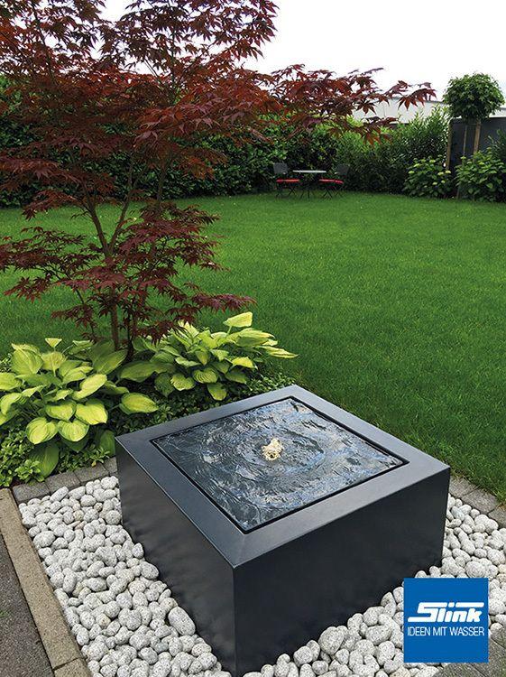 Gartenbrunnen Aluminum-Kubus-Tisch 80 – Slink | Ga…