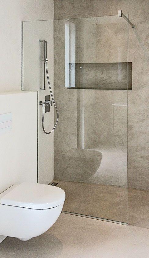 Cloison de douche en verre avec ouverture d'angle et barre