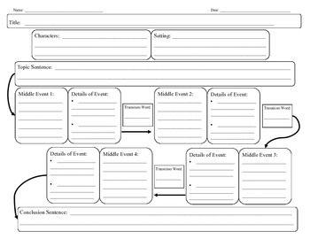 GRAPHIC ORGANIZER- NARRATIVE WRITING - TeachersPayTeachers.com
