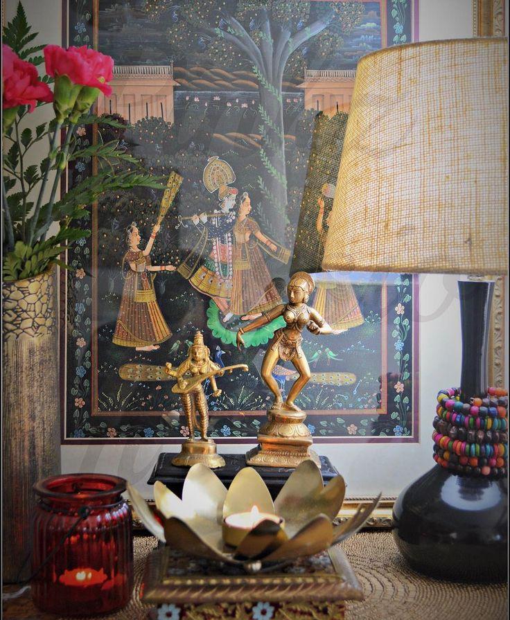 Indian décor, Indian inspired décor, Brass collectibles, Indian brass, Brass vignettes, Ganesha décor, Brass Ganesha, Indian home décor, traditional décor, Indian home