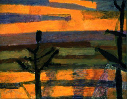 Piotr Potworowski, Zachód słońca w Kazimierzu, 1958-59
