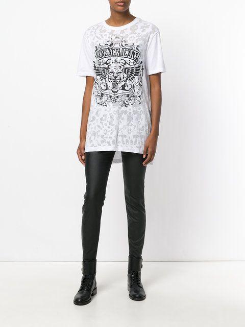 Versace Jeans camiseta con logo de tigre