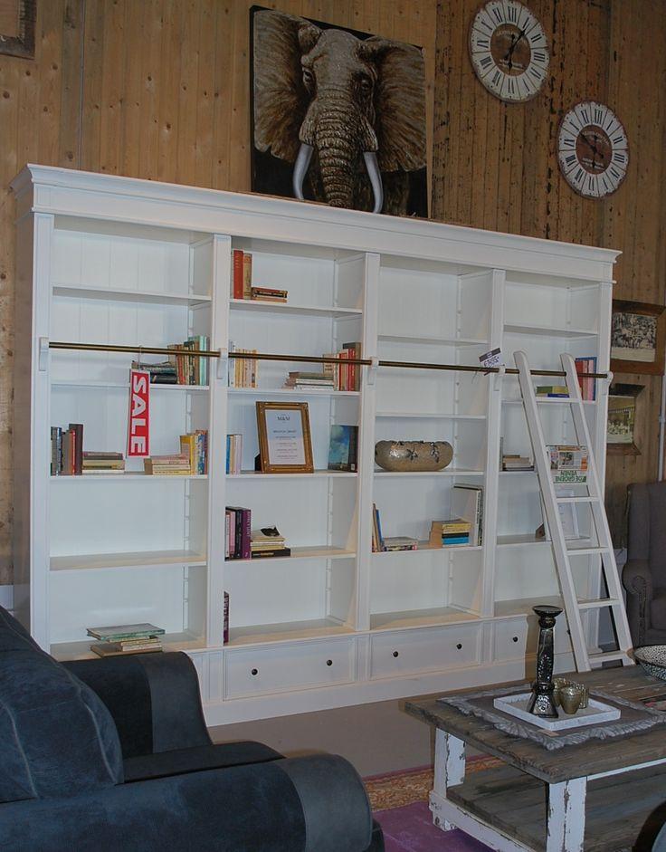 Bibliotheekkast met ladder. leverbaar in alle kleuren en 4 afmetingen