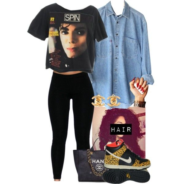 Michael Jackson ❤️ by jasmineharper on Polyvore featuring moda, Chanel and NIKE