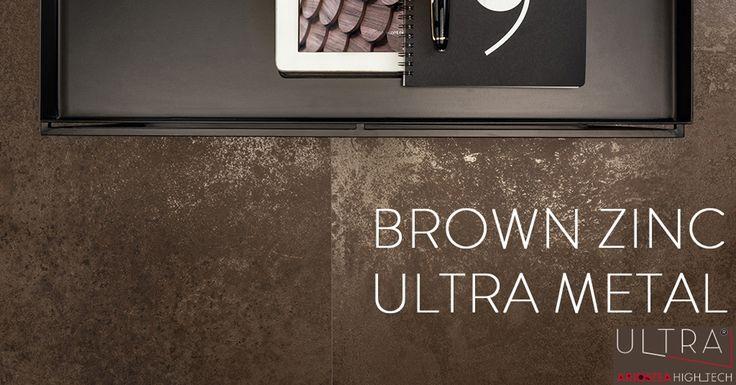 Pavimenti e Rivestimenti - Floors and Walls - BROWN ZINC | ULTRA METAL http://ultra.ariostea-high-tech.com/collections/ultra-metal/brown-zinc