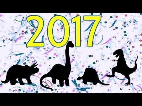 New Year Resolutions - Family Friendly YouTube Channel for Kids! - Dinosaurs Live in Alaska! 2017 - Dino toys playing: T-Rex, Triceratops, Brachiosaurus, Brontosaurus. Tyrannosaurus