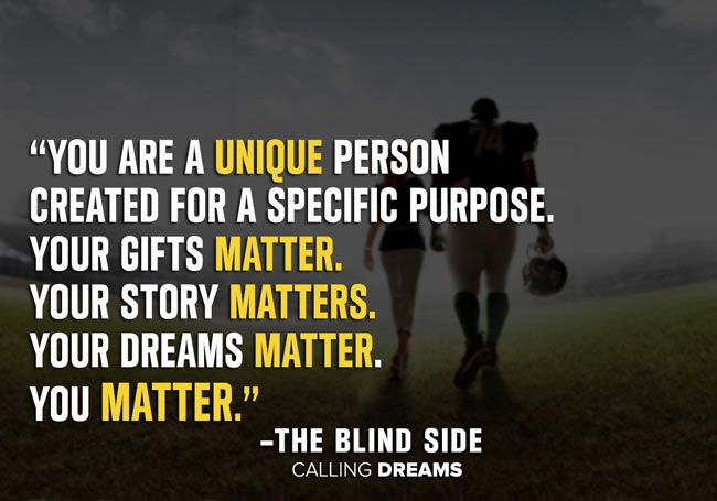The blind side movie quote