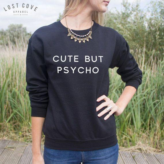 Carino ma psico Jumper maglione Blogger Hipster Grunge