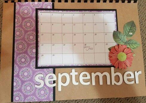 September perpetual calendar