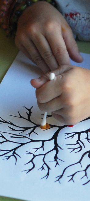 Pointillisme au coton-tige | jouonsensemble