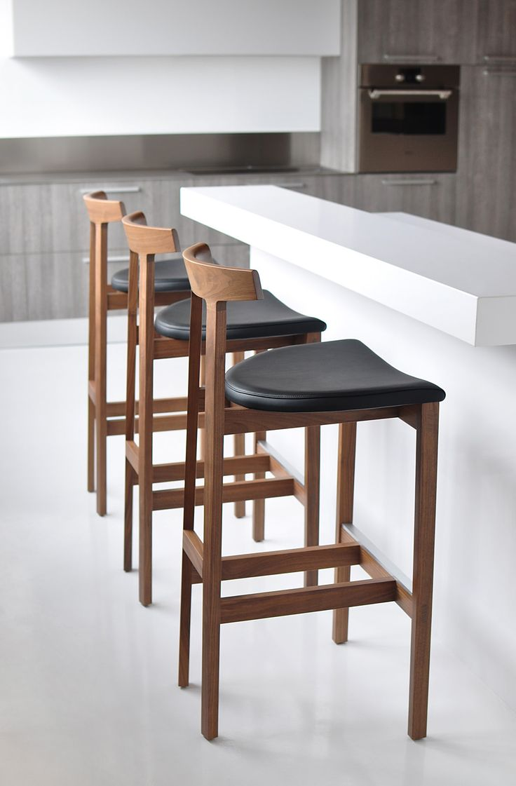 "The Torii stool is an addition of the Torii chair collection, available in Bar and Counter height. Like the chair, the design is simple yet sophisticated and defined by its characteristic arched backrest. Its minimal appearance and simple construction hide a surprising amount of comfort and sturdiness.The name Torii comes from the characteristic wood entrance arches of Shinto shrines in Japan, which translates into English as ""bird perch"". This motif perfectly describes the stools distinct…"