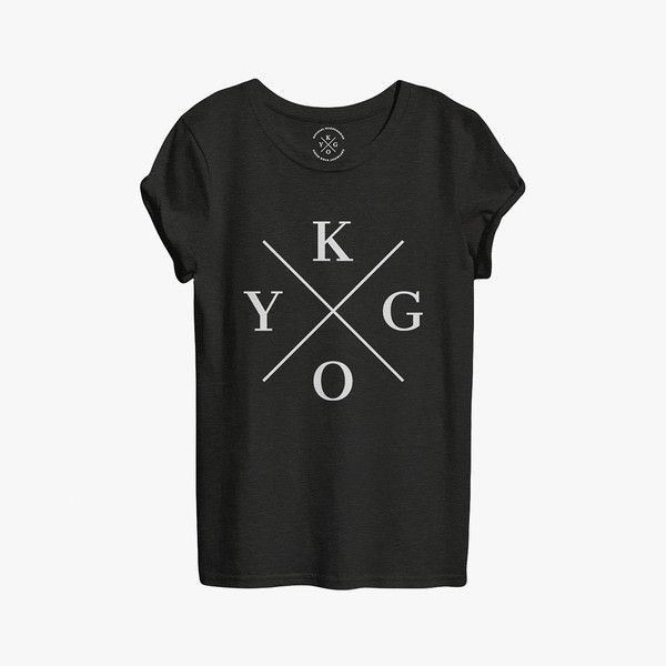 Unisex Black Tee Featuring The KYGO Logo Print On Front. A Loose-Fitting Cropped T-Shirt In 100% Cotton.