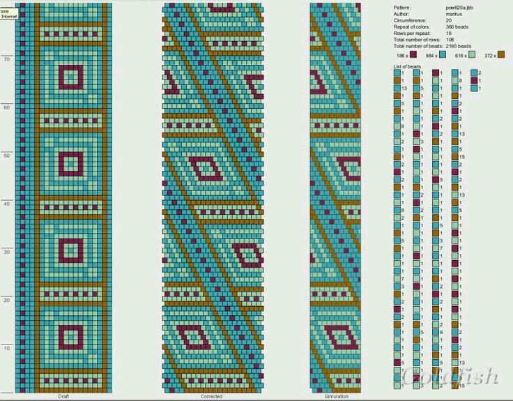 6312 best gyöngyös kumihimo minta images on Pinterest | Gehäkeltes ...