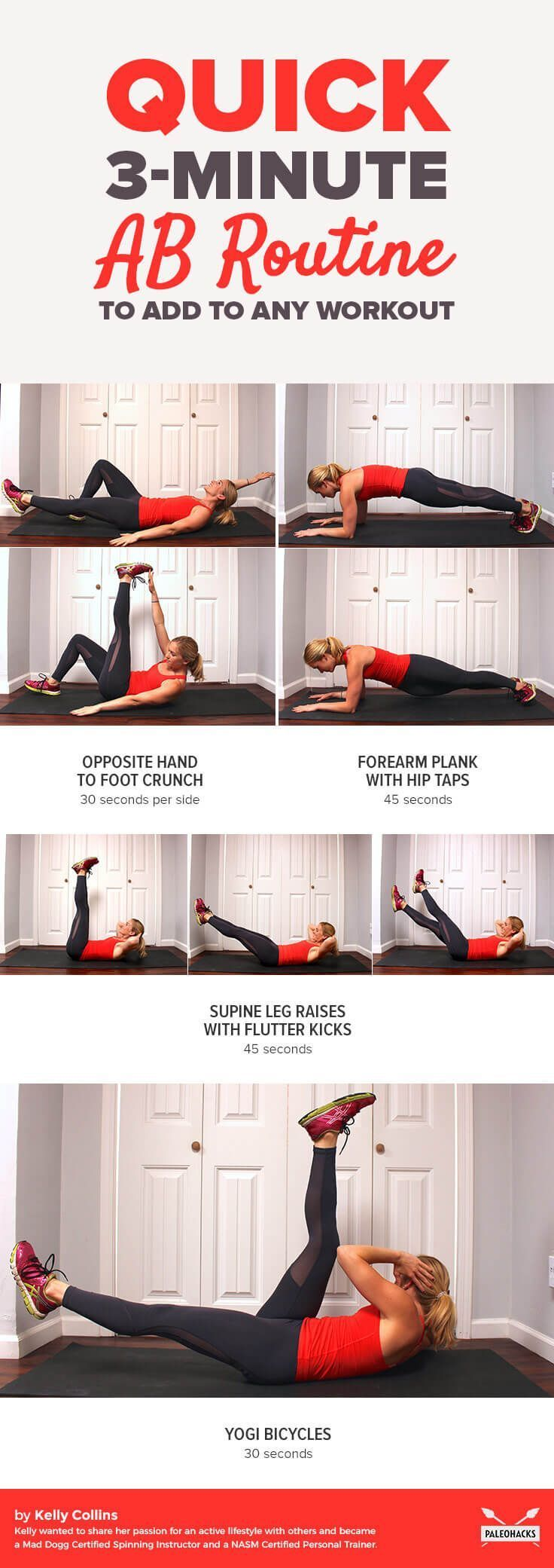 In a hurry? This quick ab routine that will take you three minutes, tops!