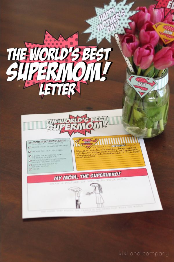 The World's Best Supermom Letter for Mother's Day - love this printable!