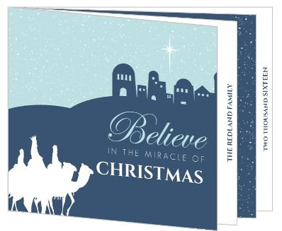 Navy Three Wisemen Christmas Card