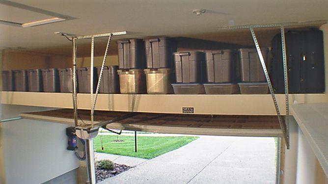 Garage Loft, great storage idea