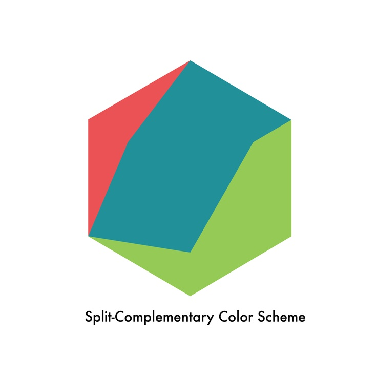 Split-Complementary Color Scheme: his is known as an off variation of the  complementary