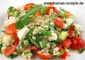 Graupen- Schafskäse- Salat | Mamas Rezepte - mit Bild und Kalorienangaben