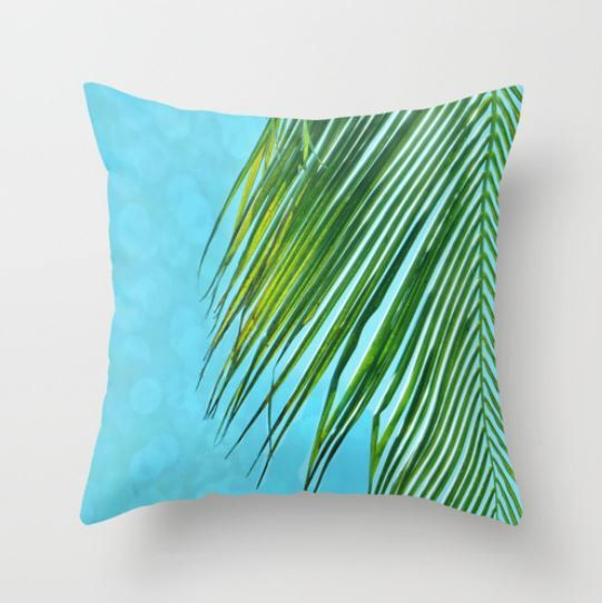 Beach Pillow Cover Tropical Decor Beach Decor by LongForgotten, $34.00