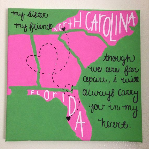 States Canvas by TheHappyPrepster on Etsy. Perfect for a graduation gift