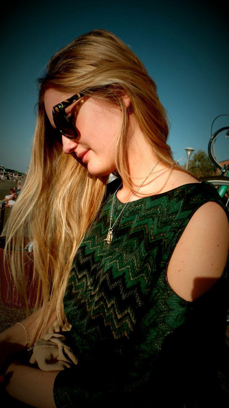 New post on www. StyleScandinavia.com - wearing my green Missoni look alike dress in the sun in Copenhagen!