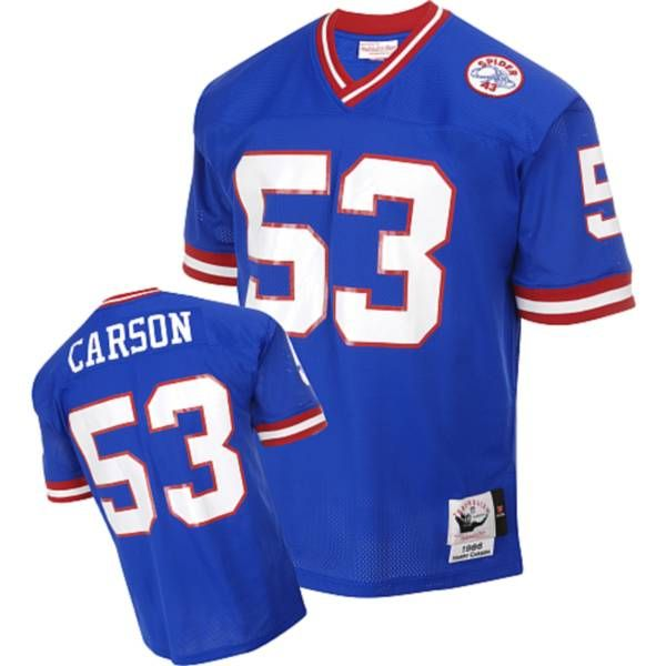 mitchell and ness giants 53 harry carson blue stitched nfl jersey