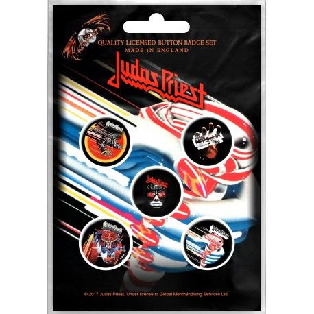 Judas Priest: Turbo (set insigne - 5 buc.)