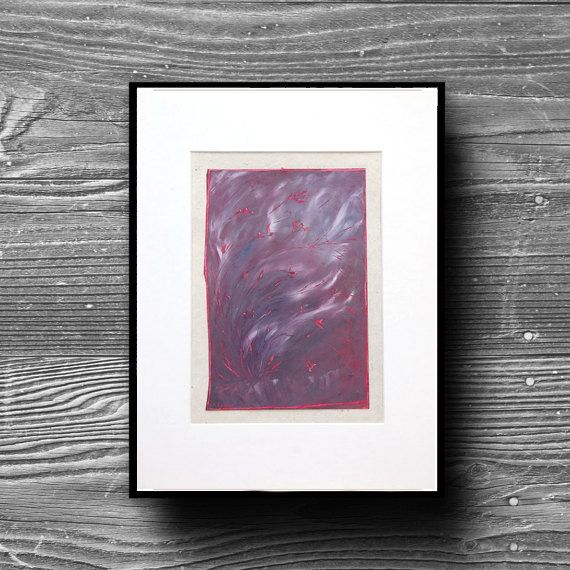 Flower artwork - Large oil painting - Purple red wind - Eclats de rubis - pinned by pin4etsy.com