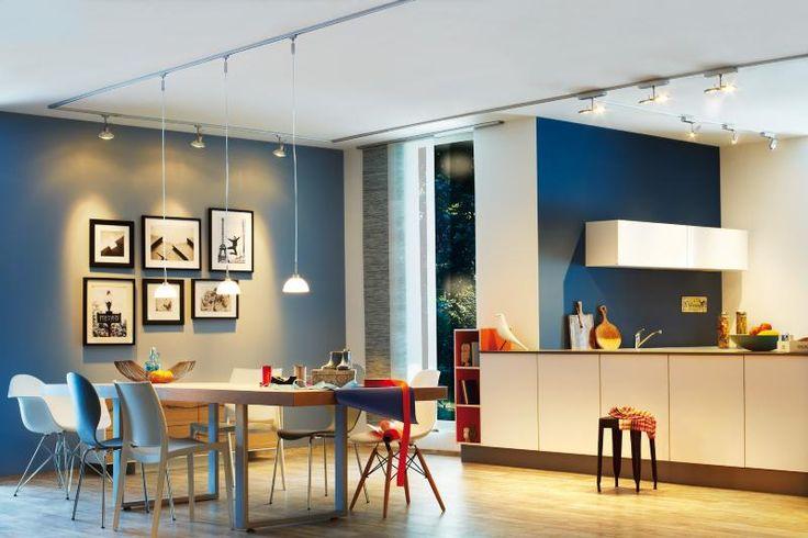 Eclairage Tableau : Eclairage sur Rail Plafond Led Spot Linear 2x6W Paulmann