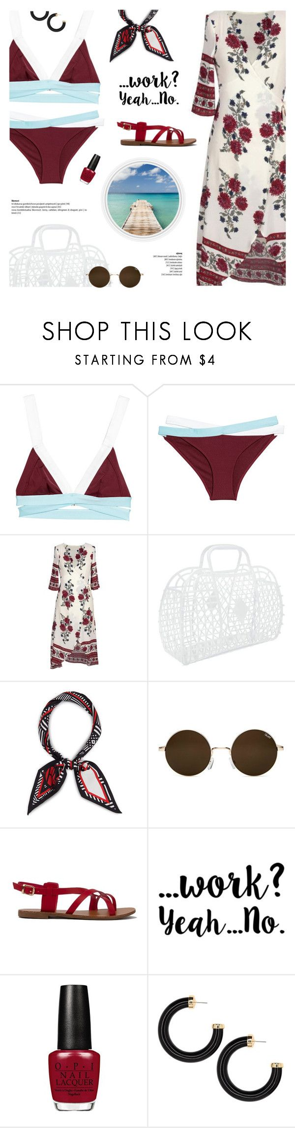 """#1205 Faking It (feat. Kehlani & Lil Yatchy), Calvin Harris"" by blendasantos ❤ liked on Polyvore featuring Forever 21, Henri Bendel, beach and beachstyle"