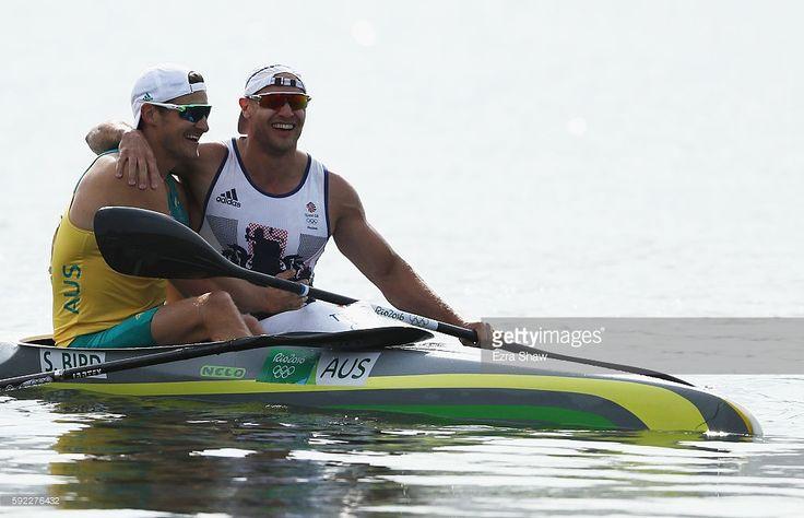 Liam Heath of Great Britain (R) celebrates with Stephen Bird of Australia after…