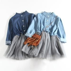 Denim Tulle Dress