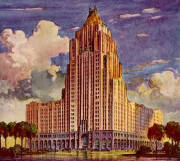 As unsure as I am about the art deco font, I sure do enjoy its architecture. This is the new Fisher building in town, and it is perhaps the grandest the eye can see. Sometimes I consider moving to the suburbs, but why would I do that when I have beautiful buildings and efficient transportation right here in Detroit? -Walter Mayfield, 1920