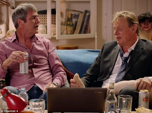 Reunited: Martin Clunes and Neil Morrissey are back as Gary and Tony for a special one-off sketch for Men Behaving Badly