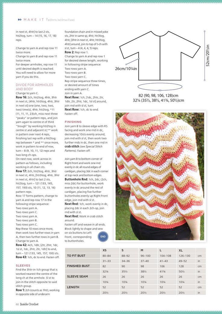 178 best CROCHET - ZIGZAG PATTERN images on Pinterest | Crochet ...