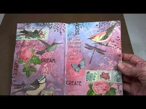 Art Journaling with Graphic 45's Botanical Tea - YouTube