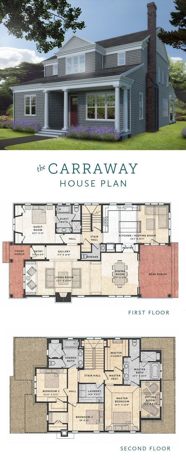 The Carraway House Plan is a Shingle Style