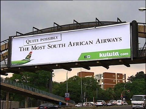Kulula doesn't shy away from controversy.  SAA vs Kulula