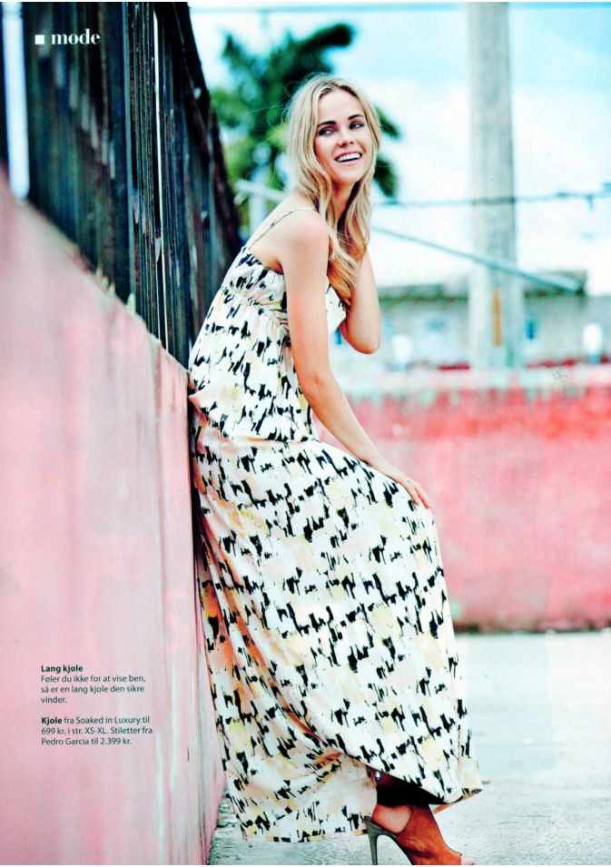 Soaked in Luxury dress in danish Femina magazine.