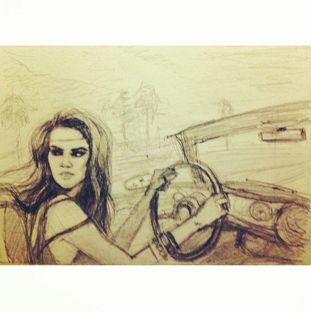 #girl #car #drive