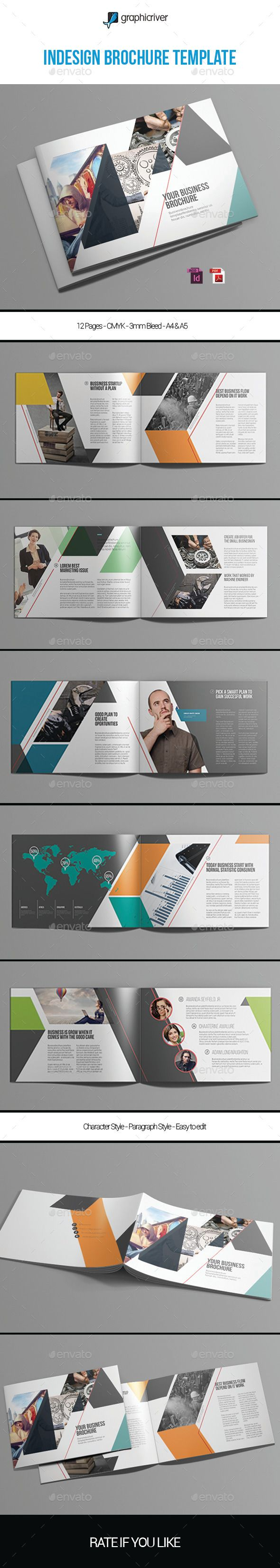 Indesign Brochure Template #design Download: http://graphicriver.net/item/indesign-brochure-template-vol1/12614358?ref=ksioks