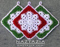FREE Crochet Snowflake Hotpad Potholder