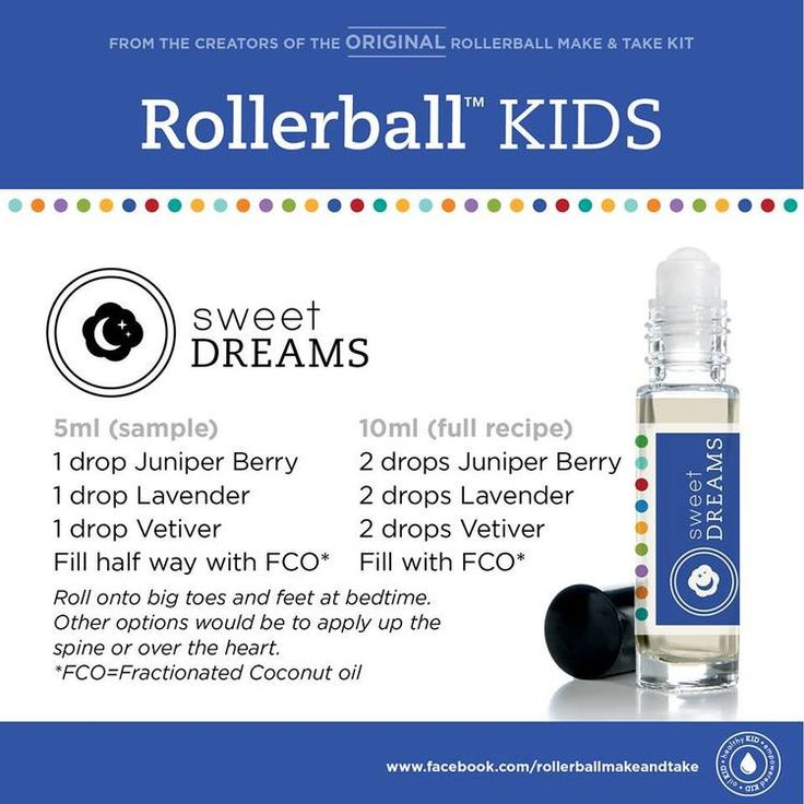 Kids essential oil roller bottle recipe: sweet dreams!